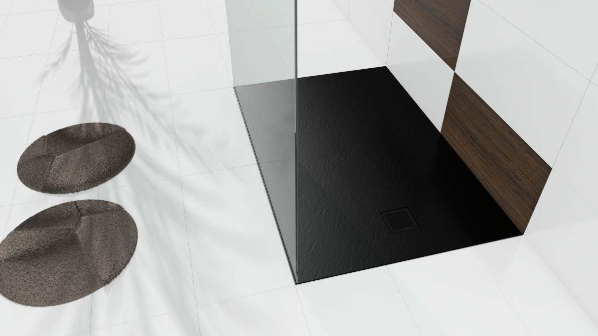 Łazienka z modną czernią
